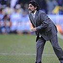 Maradona foi técnico da seleção da Argentina na Copa do Mundo de 2010, na África do Sul