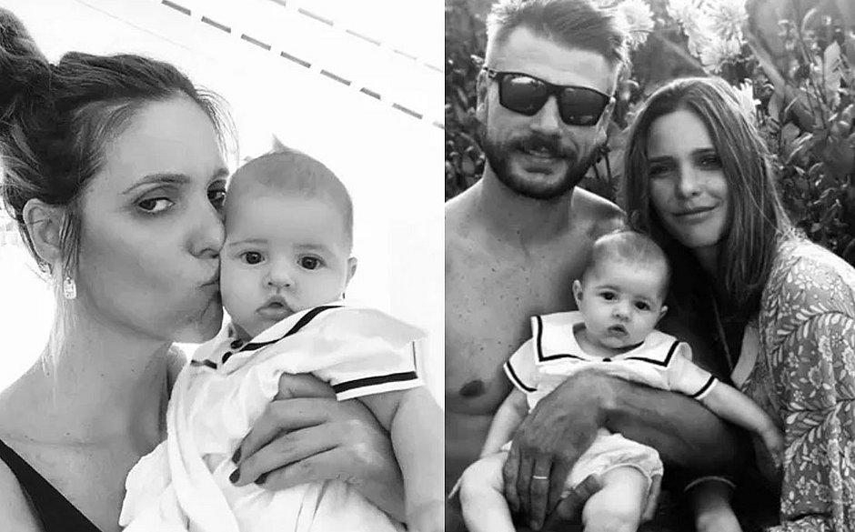 Fernanda Lima comemora 3 meses da filha Maria
