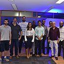 Os representantes das oito startups participaram de um evento de boas-vindas