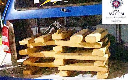 Maconha avaliada em R$ 100 mil é encontrada em barraco no oeste baiano