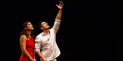 Priscila Fantin e Bruno Lopes interpretam Pilar e Bento