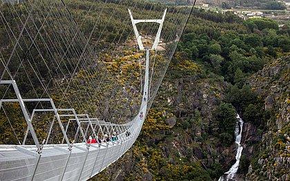 Portugal acaba de inaugurar a maior ponte suspensa de pedestres do mundo; fotos