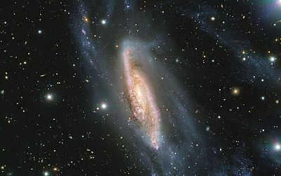 Imagem do Observatório Europeu do Sul mostra a galáxia espiral NGC 3981 capturada pelo telescópio FORS2.