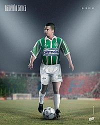 Marcelinho Carioca com a camisa do Palmeiras