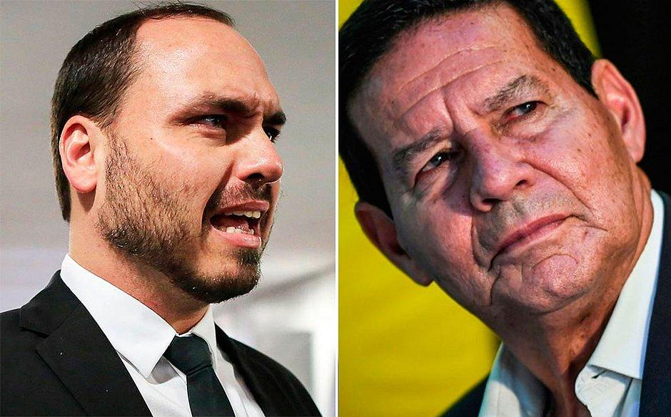 Porta-voz: Bolsonaro aprecia Mourão, mas estará sempre ao lado de Carlos