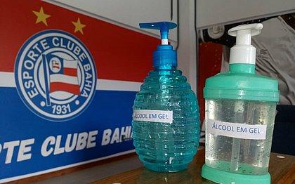 Bahia espalhou álcool gel na Cidade Tricolor para diminuir risco de contágio do coronavírus