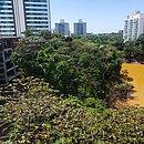 Em Alphaville, moradores estão preocupados com a perda rápida de água da lagoa do bairro