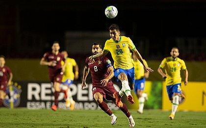Firmino fez o único gol da Seleção Brasileira contra a Venezuela