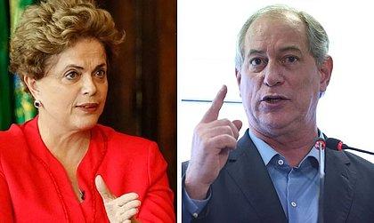 Ciro Gomes chegou ao 'fundo do poço' com mentiras 'descaradas', diz Dilma
