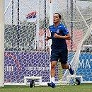 De Chuteiras, Rodriguinho voltou a treinar no campo