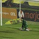 Antes de ser expulso, Thiago Carleto lamenta ao lado de Ronaldo o empate com o Guarani