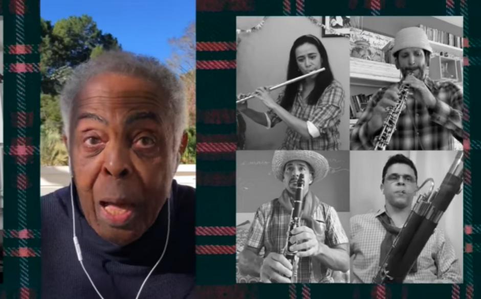 Gilberto Gil interpretou uma nova versão da música Esperando na Janela, de Targino Gondim