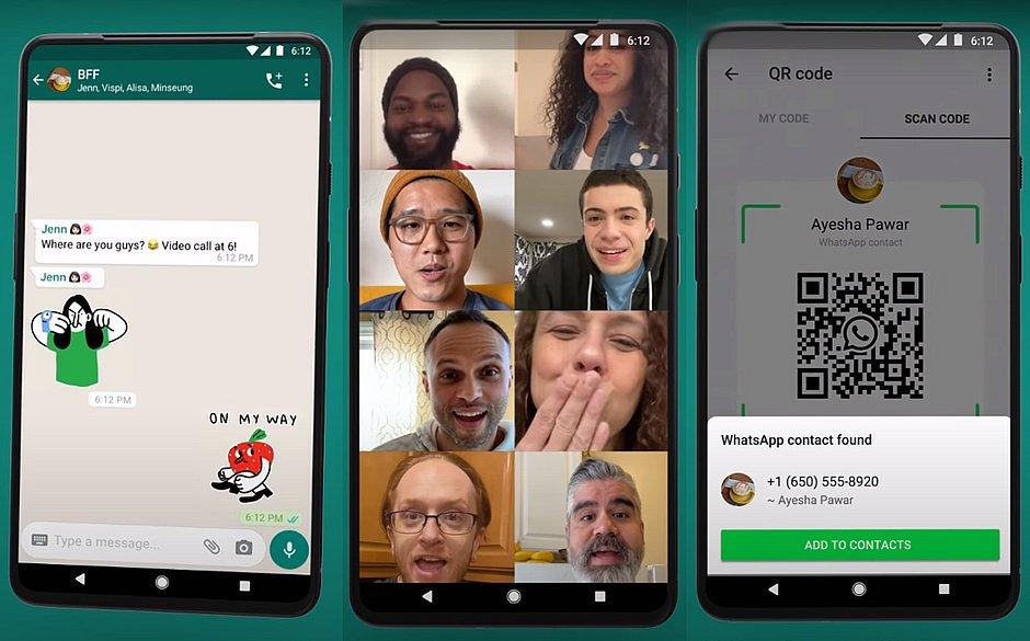 WhatsApp anuncia figurinhas animadas e vídeo-chamadas com até 8 pessoas