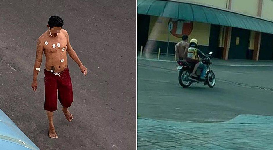 PM recaptura morador de rua com covid-19 que fugiu de hospital em mototáxi