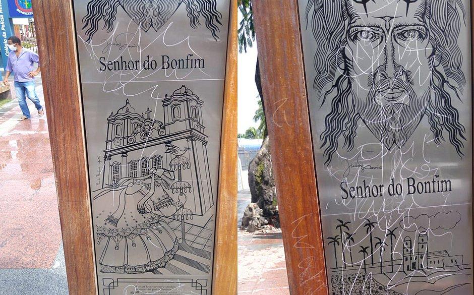 Obras de arte inauguradas a menos de um mês são danificadas na Cidade Baixa