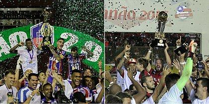 Bahia levantou troféu pela última vez em 2018, e o Vitória, em 2017