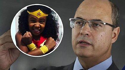 Wilson Witzel e Ágatha, morta pela polícia carioca