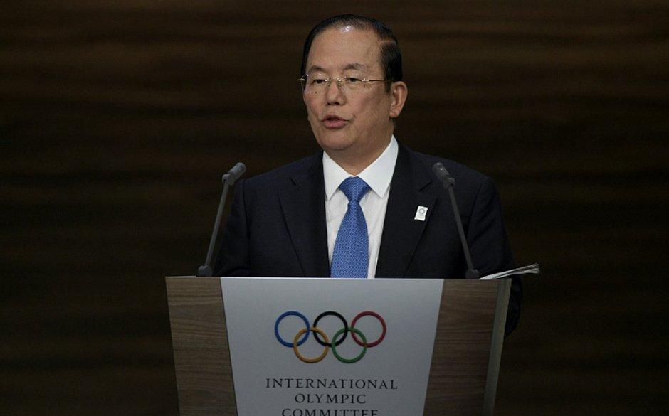 O chefe do comitê organizador dos Jogos Olímpicos de Tóquio-2020, Toshiro Muto