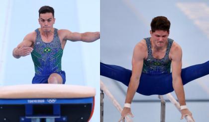 Ginastas Caio Souza e Diogo Soares ficam sem medalha na final do individual geral