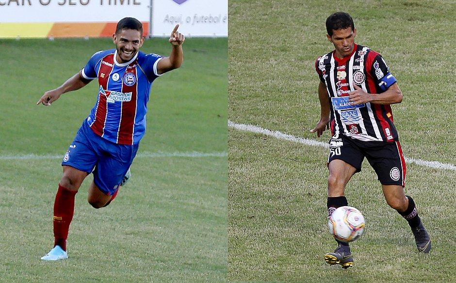 Marco Antônio e Magno Alves: destaques de Bahia e Atlético no estadual