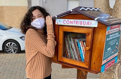Clara Beatriz criou o projeto de incentivo à leitura Casinha de Livros