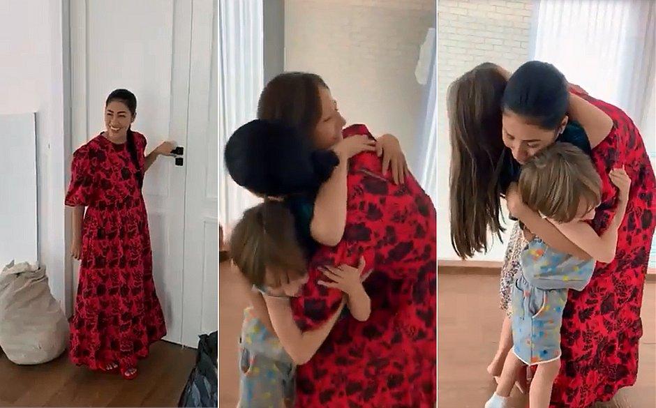 Após se curar da covid-19, Simaria se emociona ao abraçar filhos; veja vídeo