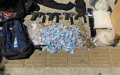 Sete homens armados e com drogas são presos pela PM em Pernambués