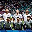 Time do Bahia em foto de fevereiro, pela Copa Sul-Americana