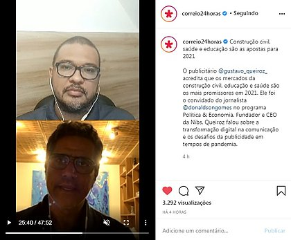 Donaldson Gomes conversa com Gustavo Queiroz