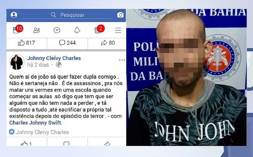 Atentado Em Escola Facebook: Homem é Preso Na Bahia Após Convocar Atentado A Escola Em