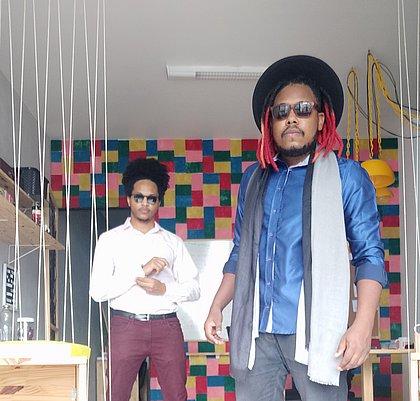 Árley Samá e Éraldi Peterson, sócios do Studio Arandela e do Meu Canto