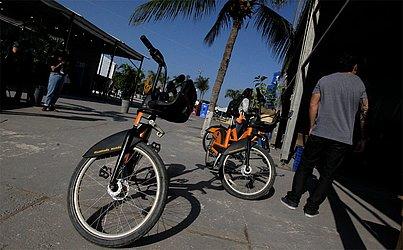Bicicletas em destaque