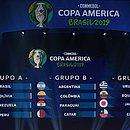Grupos da Copa América foram sorteados no Rio