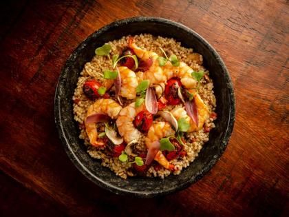 Mini Arroz de camarão e chorizo do chef Fabrício Lemos está no Chef Club