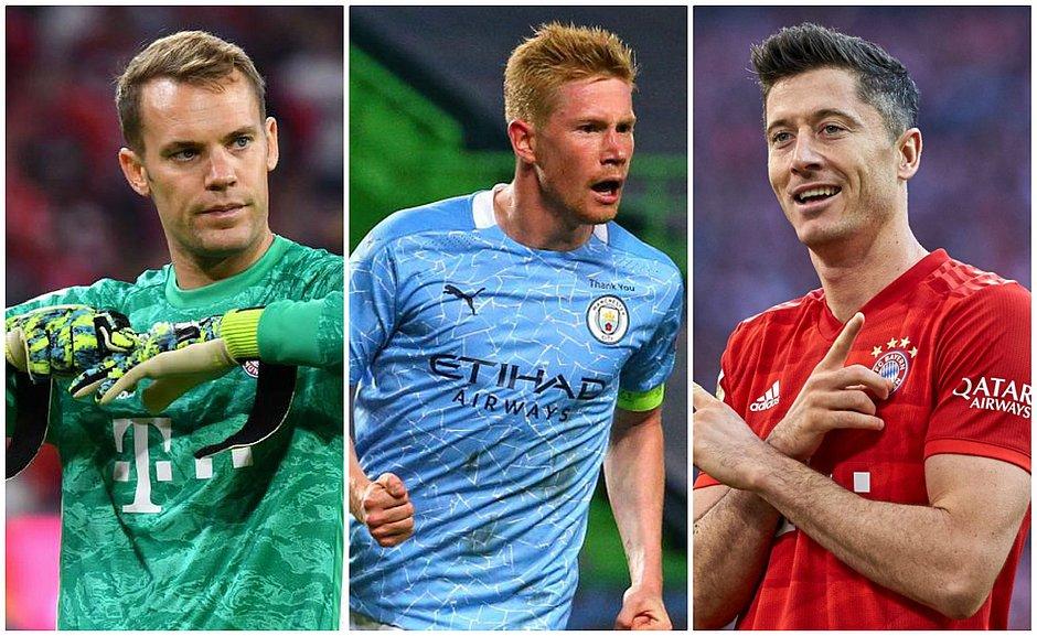 Neuer, De Bruyne e Lewandowski são os finalistas a melhor do ano na Europa