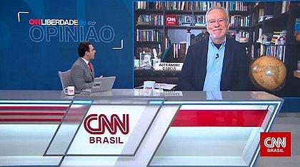 Ao vivo, Alexandre Garcia ameaça deixar a CNN Brasil: 'Não sei se volto'
