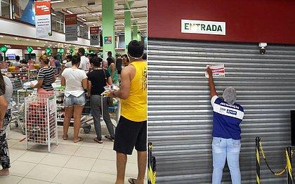 Fiscais também identificaram aglomeração de pessoas dentro da loja
