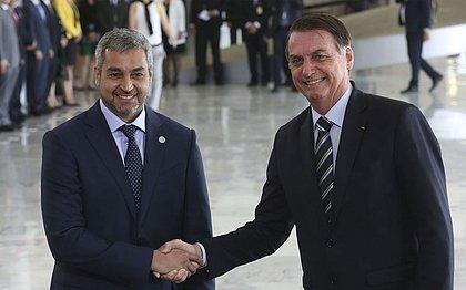 Benítez foi recebido por Bolsonaro durante visita ao Brasil