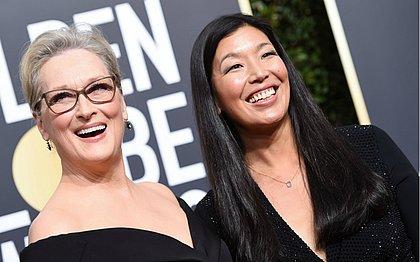 Meryl Streep e a ativista Ai-jen Poo
