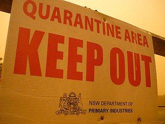 Área de quarentena na Austrália, em data não divulgada
