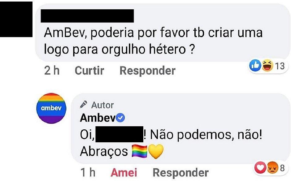 AmBev recusa pedido para aderir à campanha do 'Orgulho Hétero'