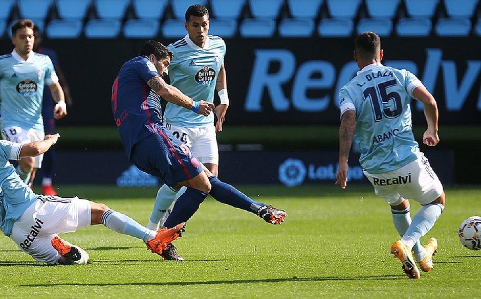 Suárez marcou seu terceiro gol pelo Atlético de Madrid