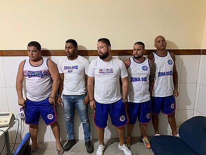 Membros da Bamor foram presos após agredir torcedor rival
