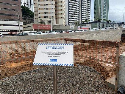 Com entrega do complexo viário Félix Mendonça, primeira etapa do BRT está 80% concluída
