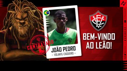 Vitória faz anúncio oficial da contratação do volante João Pedro