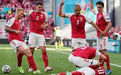 Jogo da Eurocopa é suspenso após Eriksen, da Dinamarca, desmaiar no gramado