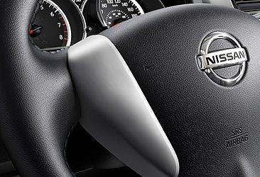 Um detalhe do interior do V-Drive, sedã mais barato da Nissan