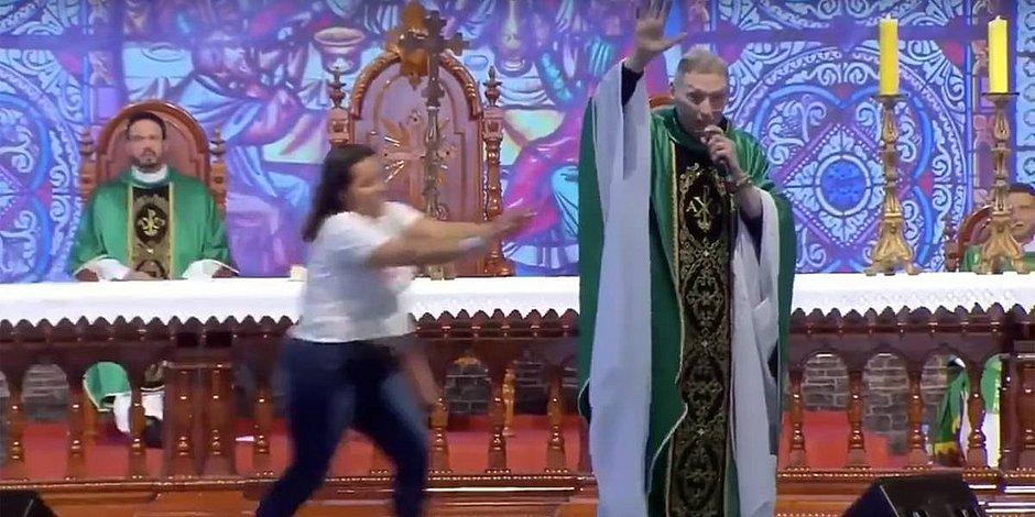 Padre Marcelo Rossi relembra queda e empurrão: 'Deus me segurou'