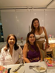Fátima Regina Araújo, Maria Eugênia Lemos e Indira Araújo