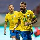 Neymar fez o segundo gol do Brasil sobre a Venezuela